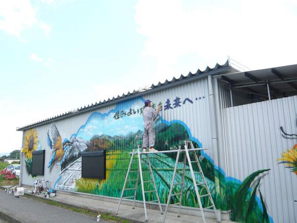【農業倉庫 地域壁画】